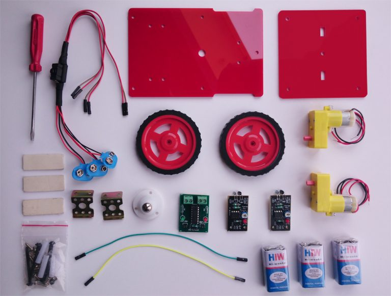 Miraculous How To Make Line Following Robot Without Microcontroller Kit4Curious Wiring Cloud Peadfoxcilixyz