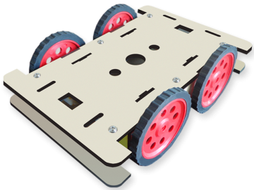 9 MDF 4wheel drive robotic chassis